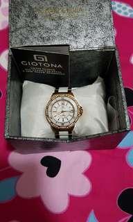 Giotona ceramic white watch