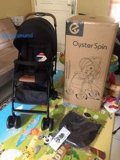 BARU stroller Oyster Spin ink black