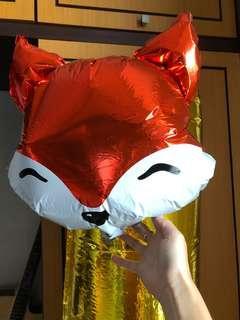 Balon Ulang Tahun Foil Motif Fox Woodland
