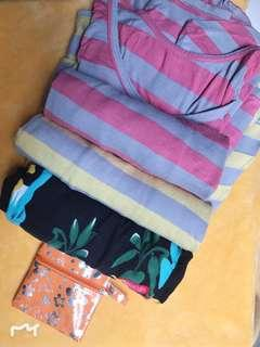 dress Santai Wanita 3pcs  BONUS dompet kecil