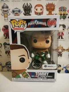 Funko Pop Metallic Unmasked Green Ranger Tommy Galactic Toys Exclusive Vinyl Figure Collectible Toy Gift Movie Power Rangers MMPR