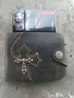 Dompet Rockstar wallet home made motif tengkorak/skull