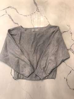 ZARA Knit Long Sleeve Sweater GREY/S