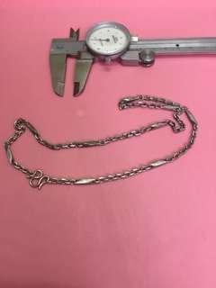 22.4 g 18寸 925 實心 銀項鍊