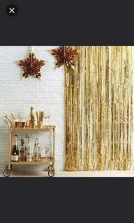 Tinsel foil curtain. Backdrop. Photobooth Background