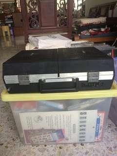 Portable bag record player AC/DC