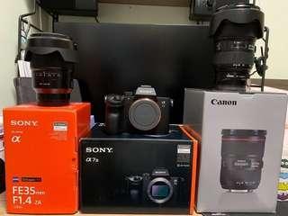 A7 III Body + SEL 35 1.4F Canon 2470 II , 70 200 2.8