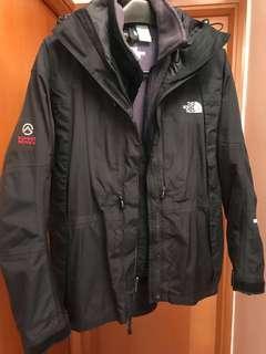 North Face 女裝黑色防水外套加紫色保暖衣內膽