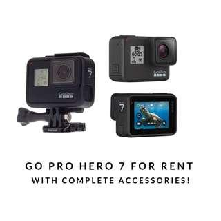 REPRICED! Go Pro Hero 7 for RENT