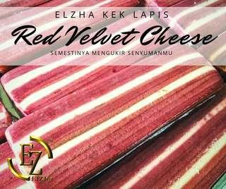 Kek Lapis Sarawak :Red Velvet cheese