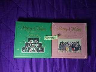 TWICE MERRY AND HAPPY UNSEALED ALBUMS