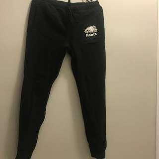 Roots Slim Black Sweatpants