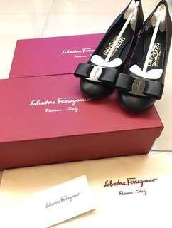 歐州減價🧡SS18 Ferragamo Ivrea Leather Heeled Courts 5C/6C/8C