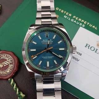 Rolex Milgauss Green Saphire 116400GV BLUE DIAL