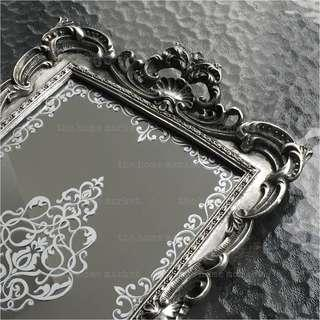 Rococo Style Vintage Serving Tray - Antique Silver