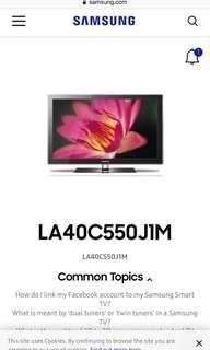 近乎全新Samsung smart TV 電視42 吋