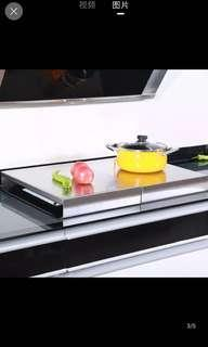 Stainless steel stove cover 60cm x 50cm
