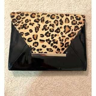 New Aldo Animal Print Wristlet With Black Patent Trim-Free with Purchase