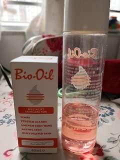 全新Bio Oil 60ml 及送已開約50ml-妊娠紋油