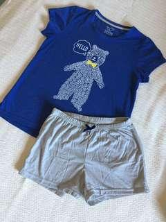comfy girl set by YoungHeart size L (8-12yrs old) worn once, As Good as New