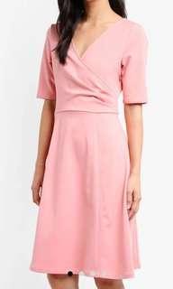 🚚 ~ Pleated Faux Wrap Dress ~
