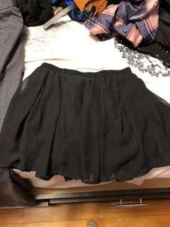 Free flowy Black Skirt