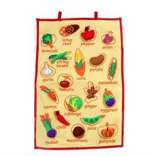FELT HANDMADE VEGETABLES WALL CHART / HANGING