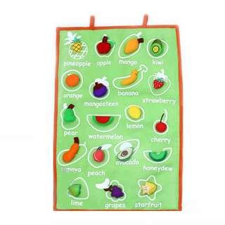 FELT HANDMADE FRUIT WALL CHART / HANGING