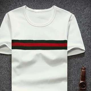 GG Green Red Horizontal Stripes Top