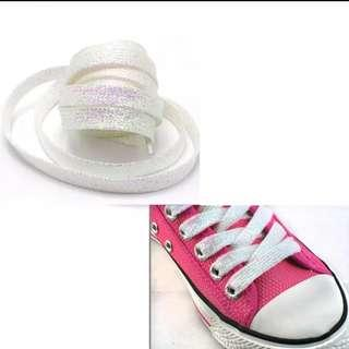 Holographic glitter shoelace
