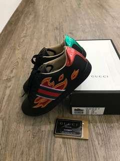 GUCCI ace aneakers flames