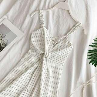 Front Knot Dress / Striped Dress / CNY Stripe Dress