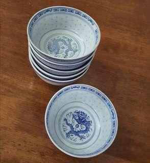 antique oriental rice grain rice bowl 6
