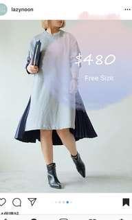 Korean dress one piece 韓國 連衣裙 連身裙 百褶裙