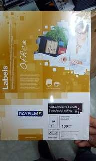 太子店 rayfilm label A4白色貼紙 多款間格 標籤貼紙