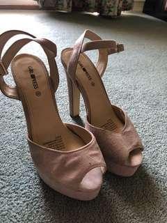 Girl express high heels