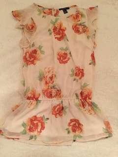 Chiffon floral T-shirt