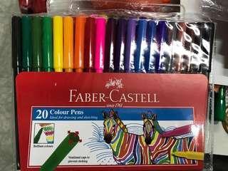 太子店 Faber Castell 水彩筆 顏色筆20色 154320 water color