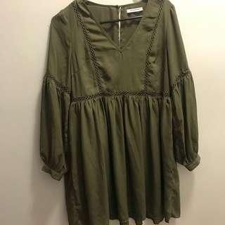 Green Tea Dress (with Slip)