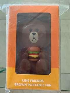 Mc Donald's Line Brown portable fan
