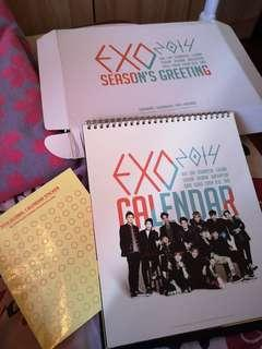 EXO Season's Greeting 2014 Calendar Only + Box