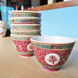 Vintage porcelain incense worship tea chinese wine cup bowl