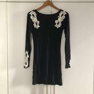Tracyeinny Prisicilla Embroidered Bodycon Dress