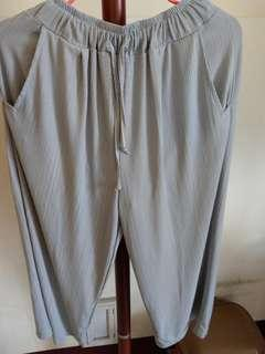 🚚 質感雪紡灰色寬褲