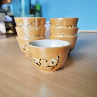 Vintage porcelain incense worship tea chinese wine cup bowls