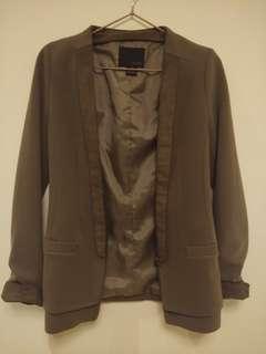 🚚 韓國帶回 咖啡色挺版顯瘦小西裝外套 #衣櫃大掃除