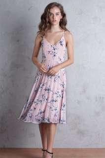 TTR Hadid Crossback Floral Midi Dress