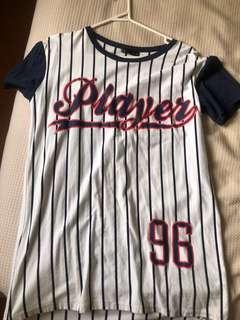 Baseball t shirt dress