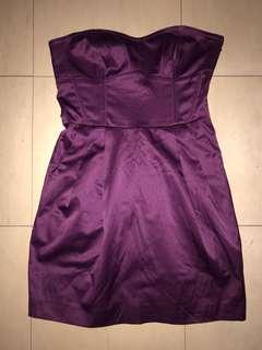 Plum Tube Dress