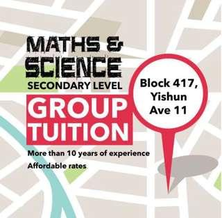 Yishun Tuition For Science & Maths (Secondary Level)